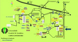 Mapa - Câmpus UEL