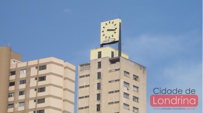 O relojão da cidade de Londrina